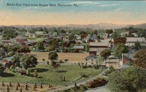 HARMONY, Pennsylvania, 1900-10s; Bird's Eye View from Rapps' Seat
