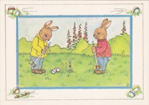 AS: A Game of Croquet by Susan Whited LaBelle, Rabbits, 1984