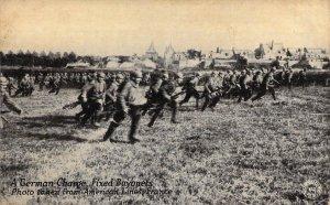 Kavanaugh War Postal,WW1 Era German Charge Fixed Bayonets, France, Old Postcard