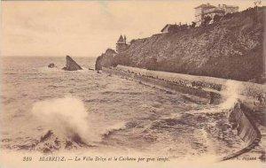 France Biarritz La Villa Belza et la Cachaou par gros temps