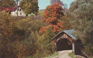Covered Bridge Stowe Hollow Bridge Vermont