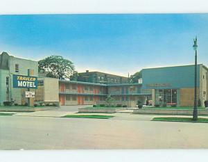 Unused Pre-1980 MOTEL SCENE Detroit Michigan MI HJ8824@