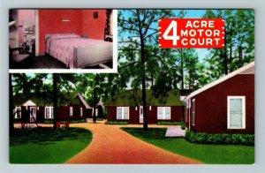 Bainbridge GA- Georgia, Four Acre Motor Court, Vintage Chrome Postcard