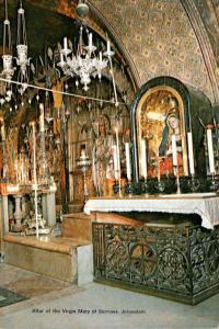 Israel Jerusalem Altar Of The Virgin Mary Of Sorrows