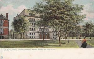 Ohio Toledo Soldiers Memorial Masonic Building & High School Tucks