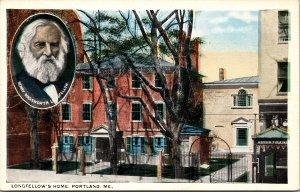 Portland ME Longfellow's Home Postcard unused 1915-30s