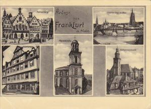Greetings Gruesse Aus Frankfurt Multi View