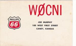 Amateur Radio WOCNI Joe Murphy Caney Kansas Phillips 66