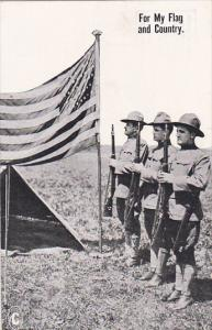 Military Soldiers Saluting Flag For My Flag and Country