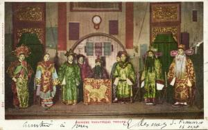 china, Native Chinese Theatrical Group, Actors (1904) Postcard