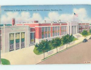 Unused Pre-1980 HIGH SCHOOL Reading Pennsylvania PA L9818@