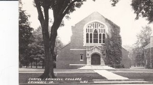 RP: GRINNELL , Iowa , 1930-40s ; Chapel , Grinnell College
