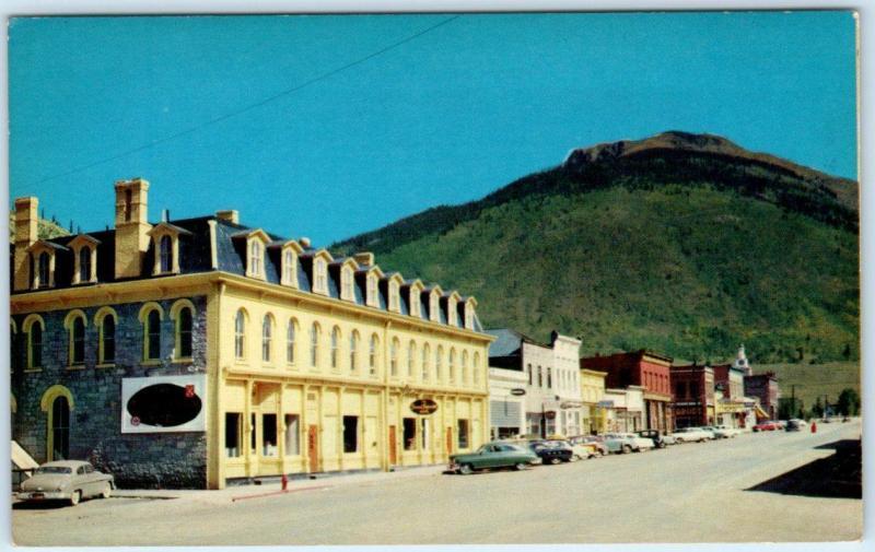 Silverton Colorado Co Grand Imperial Hotel Street Scene Ca 1950s