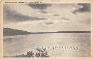 Evening Scene Yankee Lake NY 1924
