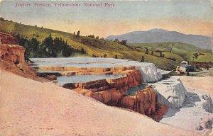 Yellowstone National Park 1910 Postcard Jupiter Terrace Laura Ohio Cancel