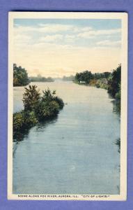 Aurora Illinois/ILPostcard, Scene Along Fox River