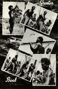 dutch new guinea, BIAK, Native Papua Warriors (1950s)