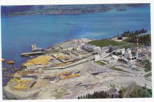 Aerial View, Elk Falls Pulp and Paper Mill and Sawmill, Vancouver Island, Bri...