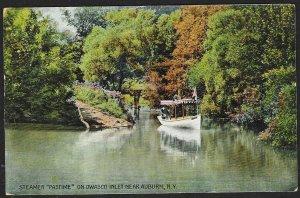 Steamer Ship Pastime Owasco Auburn New York Used c1909