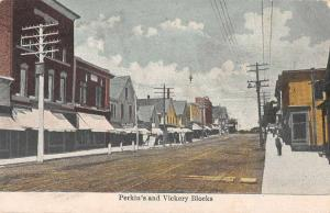 Pittsfield Maine ? Perkin's and Vickery Blocks Vintage Postcard JA454265