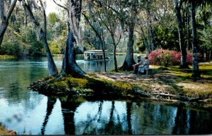 Florida Silver Springs Glass Bottom Boat On Silver River 1982