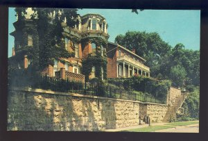 Galena, Illinois/IL Postcard, Two Pre-Civil war Homes, Steam-Boat Architecture