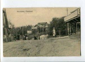 299589 Russia St.Petersburg KUOKKALA Repino street view barber Vintage postcard