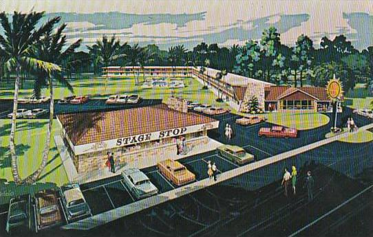 Florida Silver Springs Quality Courts Motel Stage Stop Restaurant
