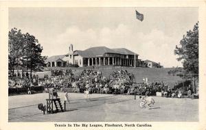 C30/ Pinehurst North Carolina NC Postcard c40s Tennis Court Big League Match