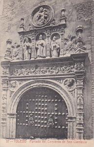 Spain Toledo Portade del Convento de San Clemente