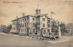 F9/ Patchoque New York Postcard 1908 High School Students