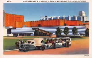 Intra-Mural Bus at Chicago World's Fair 1933, Linen Postcard, Unused