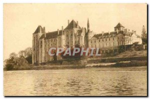 Old Postcard Solesmes Abbey On Dam Sarthe