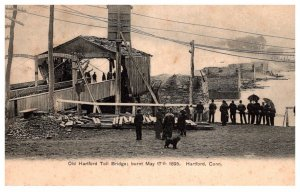 Fire Disasters  Connecticut Hartford  Toll bridge May 17, 1895