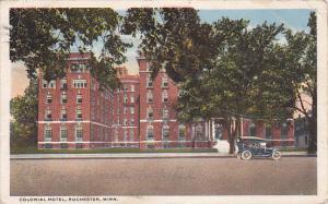 ROCHESTER, Minnesota, PU-1917; Colonial Hotel, Classic Car
