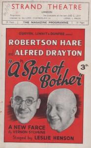 A Spot Of Bother Alfred Drayton Comedy The Strand London Theatre  Programme