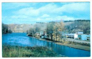Front Street With River, Telkwa, British Columbia, Canada, 1940-1960s