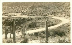 Arizona Coolidge Dam RPPC Photo Postcard Rubey's Camp Frasher 1780