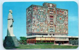 *Library Biblioteca Ciudad University Universitaria Aleman Monument Postcard C53