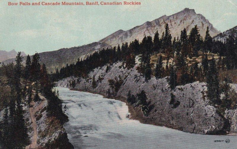 BANFF, Alberta, Canada, 1900-1910s; Bow Falls And Cascade Mountain, Canadian ...
