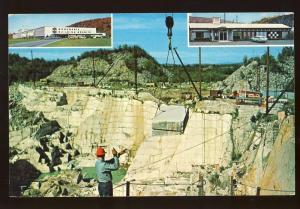 Barre, Vermont/VT Postcard, Rock Of Ages Granite Quarry