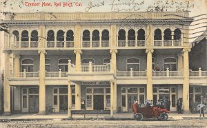 TREMONT HOTEL Red Bluff, CA Tehama County 1907 Vintage Hand-Colored Postcard