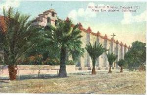 San Gabriel Mission, Founded 1771, Near Los Angeles, California, 1900-1910s