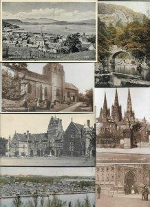 Big United Kingdom 70 Postcards Lot With Scotland England With RPPC 01.14