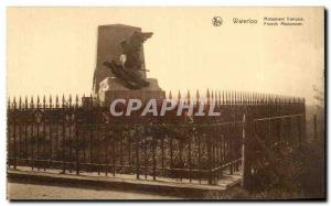 Postcard Old Waterloo French Monument