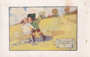 Golf The Best Game In The World Antique Postcard