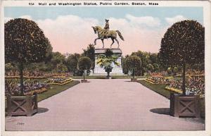 Massachusetts Boston Mall and Washington Statue Public Garden