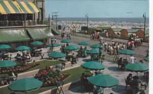 Colorful view showing The Dennis Hotel- Terrace, boardwalk, Atlantic City, Ne...
