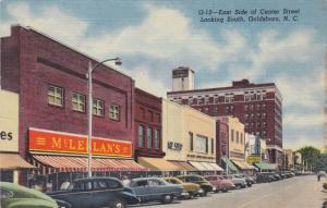 East Side of Center Street Looking South, GOLDSBORO, North Carolina, 30-40s