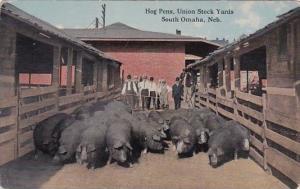 Hog Pens Union Stock Yards South Omaha Nebraska